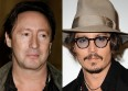 Johnny Depp et Julian Lennon suivent Aerosmith