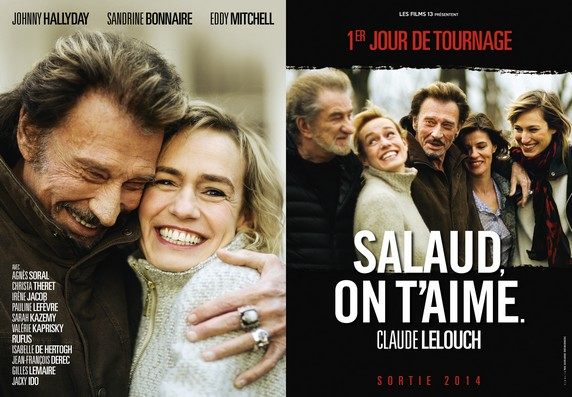 johnny hallyday et eddy mitchell dans le film salaud on t 39 aime de claude lelouch. Black Bedroom Furniture Sets. Home Design Ideas