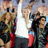 Coldplay, Beyoncé et Bruno Mars mettent le feu au Super Bowl 2016 : photos